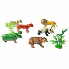Набор из 6 фигурок Animals - Дикие животные, 9 см Shantou