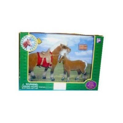 Набор из 2 лошадок с аксессуарами, светло-коричневый Играем Вместе