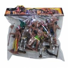 Игровой набор фигурок ковбоев и индейцев Wild West Shantou