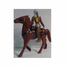 Фигурка всадника Brave - Индеец, коричневый