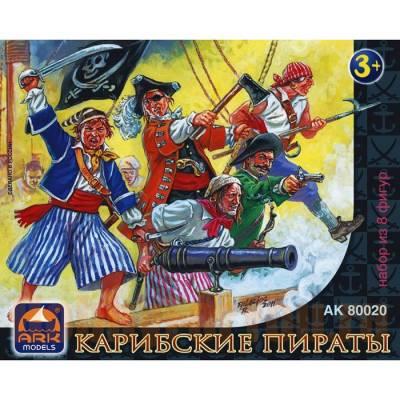 Набор из 8 фигур «Карибские пираты» Ark Models