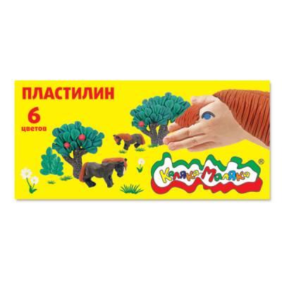 Набор пластилина cо стеком Каляка-Маляка
