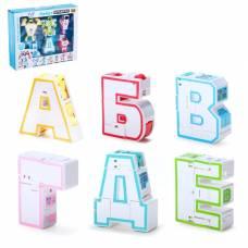Набор трансформеров «Алфавит», световые и звуковые эффекты, 6 трансформеров-букв, собираются в 1 робота Dade Toys
