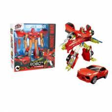 Трансформер с аксессуарами Super Robot - Красный титан Ziyu Toys