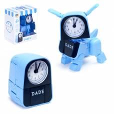 Трансформер-часы «Щенок», трансформируется в будильник, работает от батареек Dade Toys