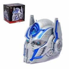 Шлем трансформера «Автобот Оптимус», преобразование голоса, световые эффекты, работает от батареек Wei Jiang