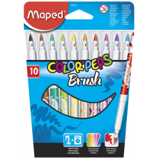 Фломастеры Color'Peps Brush, 10 шт. Maped