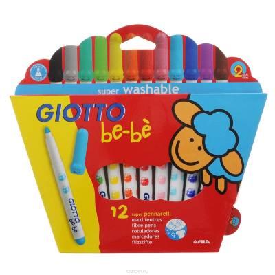 Фломастеры Super Fibre Pens, 12 цветов Giotto