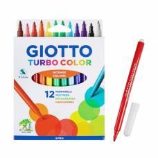 Фломастеры 12 цветов GIOTTO Turbo Color 2.8 мм 71400 Giotto