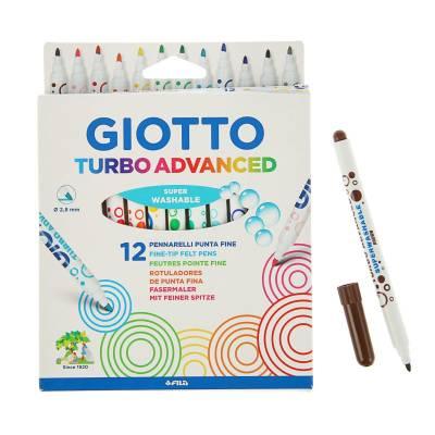 Фломастеры Turbo Advansed, 12 цветов Giotto