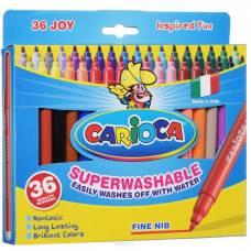 Смываемые фломастеры Joy, 36 цветов  Carioca