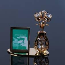 Фоторамка «Цветок», 10,3×10×4.5 см, с кристаллами Сваровски VS