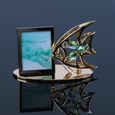 Фоторамка «Рыбка», 6×10×4,5 см, с кристаллами Сваровски VS