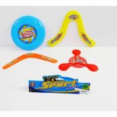 Набор бумерангов и летающих тарелок YG Sport, 25 см YG Sport
