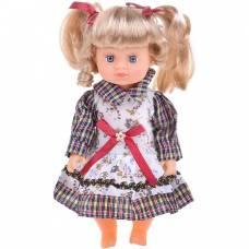 Музыкальная кукла в клетчатом платье