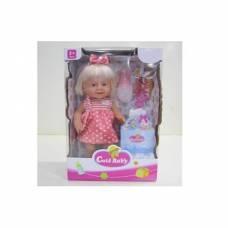 Функциональная кукла Cute Baby с аксессуарами (пьет, писает), 40 см Yako Toys