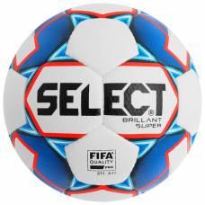 Мяч футбольный SELECT Brillant Super FIFA, размер 5, FIFA PRO, PU, ручная сшивка, 32 панели, 810108-002 Selecta