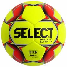 Мяч футбольный SELECT Brillant Super FIFA TB YELLOW, размер 5, FIFA, термосшивка, 32 панели, 810316-553 Selecta