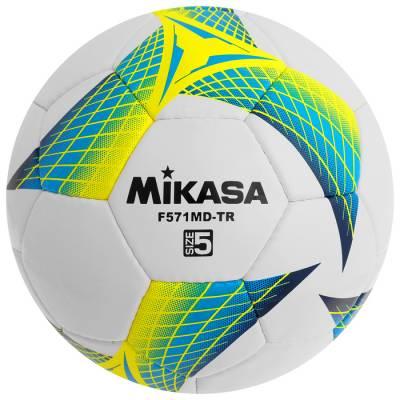 Мяч футбольный MIKASA F571MD-TR-B, размер 5, PVC, ручная сшивка, 32 панели, 3 подслоя Mikasa