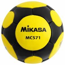 Мяч футбольный MIKASA MC 571 YBK, размер 5, FIFA Quality, PU, ручная сшивка, 38 панелей, 3 подслоя Mikasa