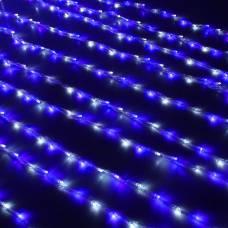 ВОДОПАД уличная, УМС, Ш:2 м, В:6 м, Н.С. LED-1500-220V, контроллер 8 режимов, СИНИЙ HTI