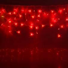 БАХРОМА уличная, УМС, Ш:5,6 м, В:0,9 м, Н.Б.  2W LED-330-220V, шнур питания, КРАСНЫЙ HTI