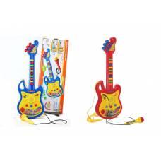 Игрушечная электрогитара с микрофоном Music Guitar YoYo (звук) Shenzhen Toys