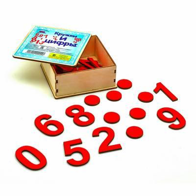 Кружки и цифры в деревянной коробке Smile Decor
