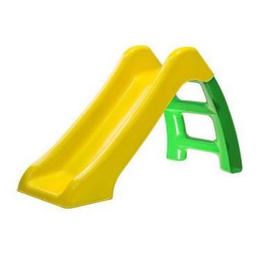 Пластмассовая горка, желто-зеленая, 70 см Компания