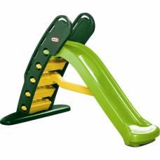Складная горка, зелено-желтая Little Tikes