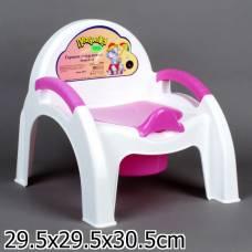 Горшок-стульчик, розовый Бытпласт