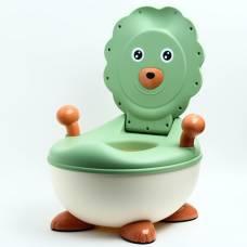 Горшок детский «Лев», цвет зелёный Sima-Land