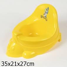 Горшок-игрушка (микс 2), темно-желтый Бытпласт