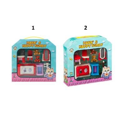 Игровой набор мебели Manx's Happy Family - Спальня Shenzhen Toys
