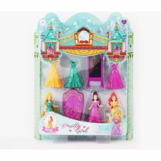 Набор из 3 кукол с мебелью Pretty Girl Zhorya