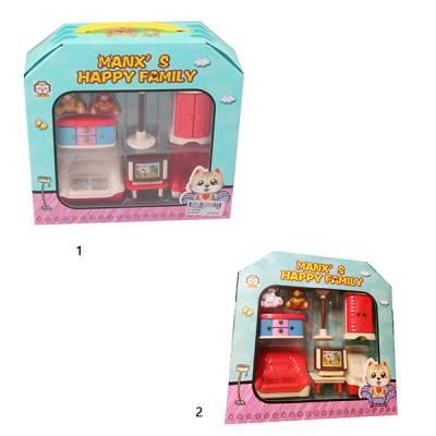 Игровой набор Manx`s Happy Family - Гостиная комната Shenzhen Toys