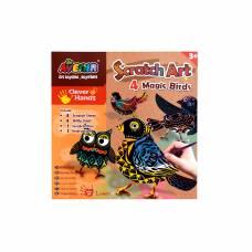 Набор для создания гравюры Scratch Art - Волшебные птички Avenir