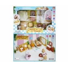 Набор кукольной мебели для ванной Happy Family с аксессуарами Junfa Toys