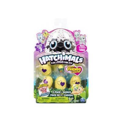 Коллекционная фигурка Hatchimals в яйце, 4 шт. + бонус Spin Master