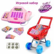 Касса со сканером, продуктовой тележкой и аксессуарами, феи ВИНКС, 30 предметов Winx