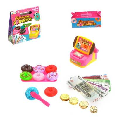 ZABIAKA Игровой набор касса с деньгами
