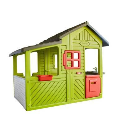 Садовый домик с кухней-барбекю и звонком Smoby