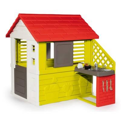 Игровой домик Nature с летней кухней  Smoby