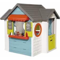 Домик детский для улицы 3 в 1: садовый домик, ресторан и магазин Smoby 810403 Smoby