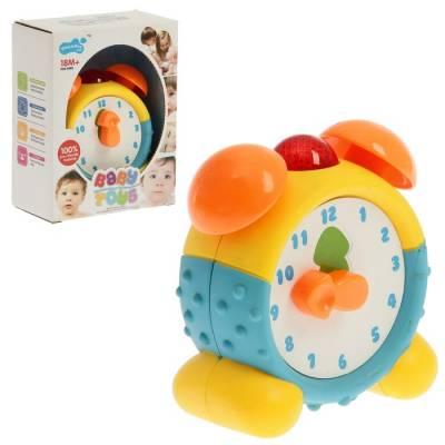 Развивающая игрушка «Будильник Часики», световые эффекты, озвучка на английском языке Sima-Land