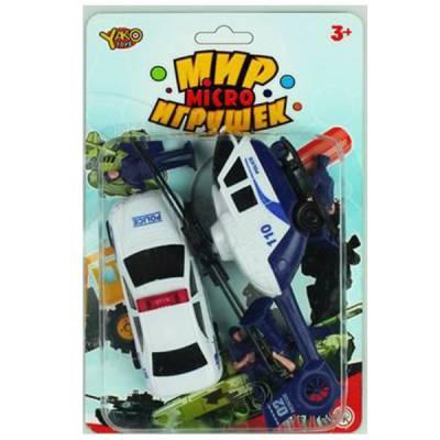 Игровой набор Мир Micro Игрушек - Полицейский участок, 6 предметов Yako Toys
