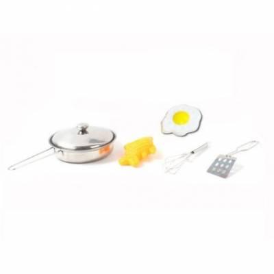 Игровой набор металлической посуды с аксессуарами, 6 предметов Shantou