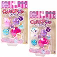 Набор игрушек Cake Pop Cuties Families, 1 серия, Котята и Щенки в ассортименте, 3 штуки в наборе Basic Fun!