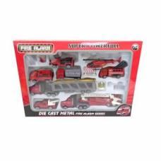 Игровой набор Super Powerfull - Пожарная техника, 11 предметов Junfa Toys