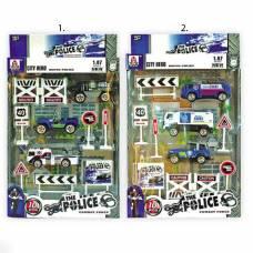Игровой набор The Police с машинками, 1:87, 10 предметов